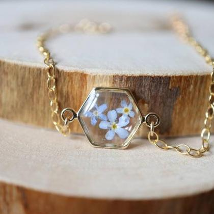 Forget-me-not Bracelet / Real Flowe..