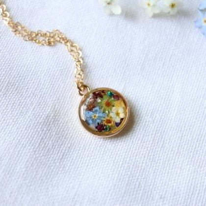 Assorted Wildflower Necklace / 14k ..